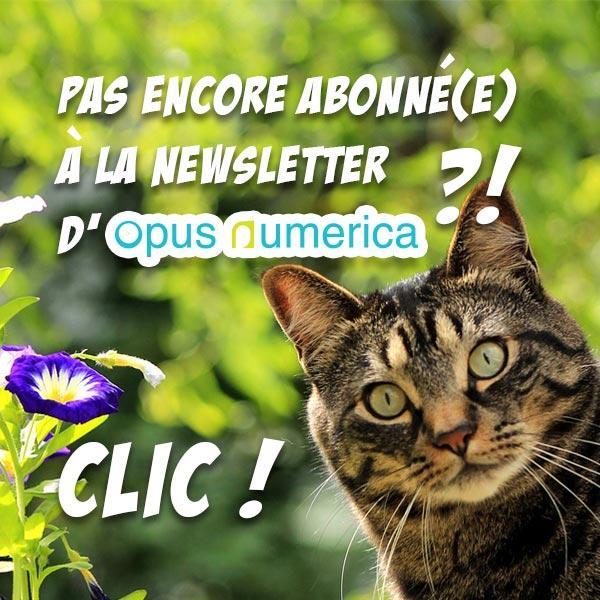 Pas encore abonné(e) à la newsletter d'Opus Numerica ?! CLIC !